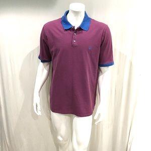 Louis Vuitton Mens Burgundy Striped Polo Shirt